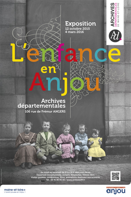 Exposition l'enfance en Anjou, archives départementales de Maine-et-Loire, scénographie de l'exposition Jean-Yves Bardin, creazen