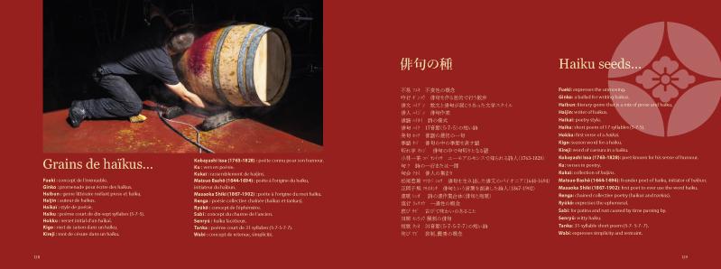 Grappes de haikus est le premier livre trilingue français anglais japonais sur les haikus et le vin photographe Jean-Yves Bardin Haikus Patrick Gillet et Annick Dandeville