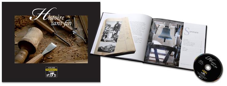 Ateliers Perrault frères livre Histoire sans fin et film réalisé par creazen studio de création graphique a l'occasion des 250 ans des ateliers Perrault frères