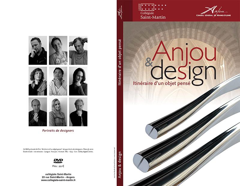 Anjou et design, itinéraire d'un objet pensé, exposition Collégiale Saint-Martin Angers réalisée par creazen, portraits de designers, livre et DVD, Jean-Yves Bardin